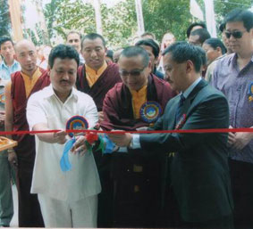 Rinpoche at Opening of Lingdum Hospital